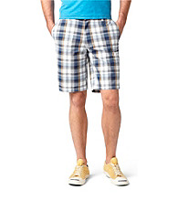 Dockers® Men's Deck Blue Classic-Fit Perfect Flat Front Hills Plaid Short