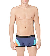 Calvin Klein Men's Maui Blue Bold Colorblock Low Rise Trunk