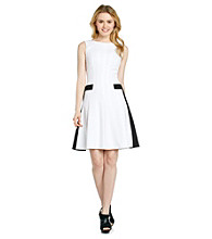 Calvin Klein Drop Waist Contrast Dress
