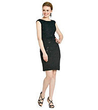 Cachet® Stretch Lace Sequin Dress