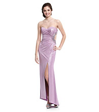 Jump® Juniors' Strapless Cutout Gown