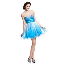 Jump® Juniors' Strapless Ombre Party Dress
