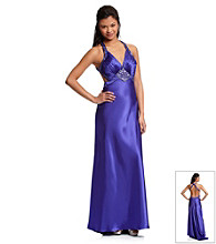 Morgan and Co.® Juniors' Purple Satin Gown