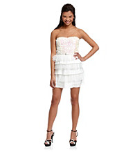 As U Wish® Juniors' Strapless Tiered Party Dress