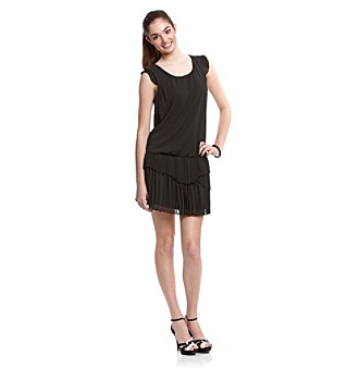 A. Byer Juniors' Black Blouson Dress