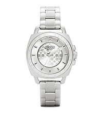 COACH STAINLESS STEEL BOYFRIEND MINI BRACELET WATCH