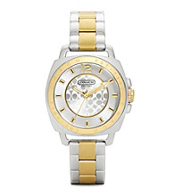 COACH TWO TONE BOYFRIEND MINI BRACELET WATCH
