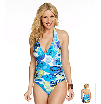 "Jantzen® ""Rose Parade"" Halter One-Piece Suit"