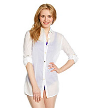 Anne Cole® Boyfriend Shirt Coverup
