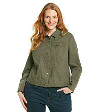 Relativity® Plus Size Linen Jacket