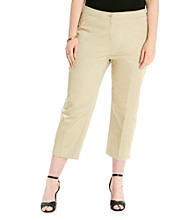Relativity® Career Plus Size Comfort Waistband Capri