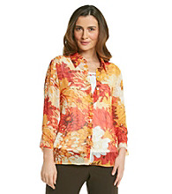 Alfred Dunner® Point Collar Layered-Look Pullover Shirt
