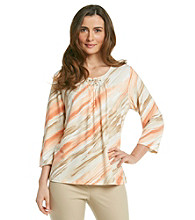 Alfred Dunner® Beaded Neckline Shirt