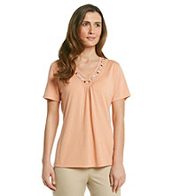Alfred Dunner® V-neck Beaded Top