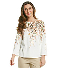 Alfred Dunner® Floral Beaded Crewneck Sweater