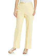 Alfred Dunner® Back Stretch Waistband Straight Leg Pant