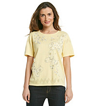 Alfred Dunner® Embroidered Crewneck Tee