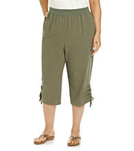 Studio Works® Plus Size Crinkle Capri