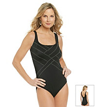 Studio Works® Overseamed Stitch One-Piece Swimsuit
