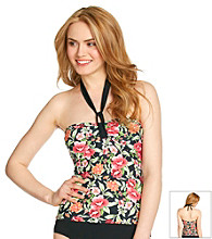 Relativity® Floral Tie-Neck Swim Top