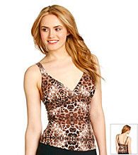 Relativity® Animal Print Swim Top