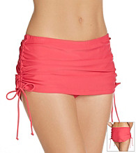 Relativity® Shirred Skirt Swim Bottoms