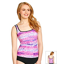 Relativity® Scale Patterned Tankini Swim Top