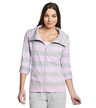 Exertek® Striped Zip-Front Jacket