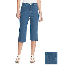 Gloria Vanderbilt® Amanda Radiance Scroll Denim Capri