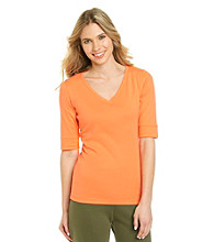 Jones New York Sport® V-neck Solid Tee