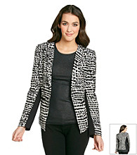 Calvin Klein Collarless Print Jacket