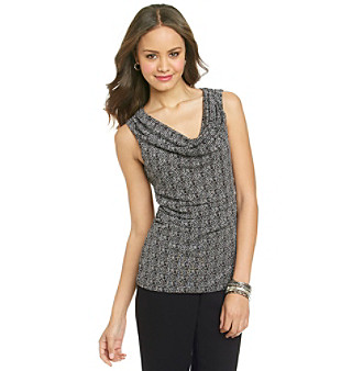 Cable & Gauge® Multi-Colored Patterned Mesh Tank