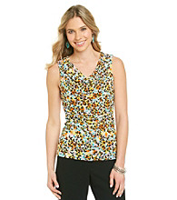 Cable & Gauge Multi Colored Patterned Mesh Tank