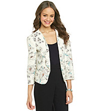 Black Rainn® Cropped Crepe Jacket