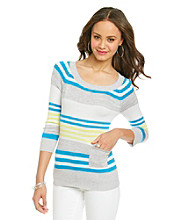 Cupio Multi Stripe One-Pocket Sweater