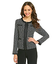 Fever™ Black Boucle Jacket With Pockets