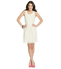 Chelsea & Theodore® Ivory Keyhole Lace Dress