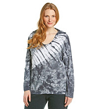 Calvin Klein Performance Plus Size Tie-Dye Slub Hooded Tee
