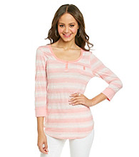 Nine West Vintage America Collection® Petites' Primrose Stripe Henley