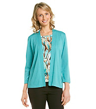 Alfred Dunner® Petites' Chelsea Market Layered-Look Sweater