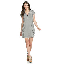 Kensie® Zip Front French Terry Dress
