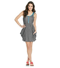 Kensie® Contrast Trim French Terry Dress