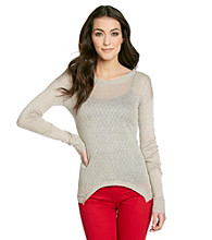 Kensie® Drapey Curved Hem Sweater