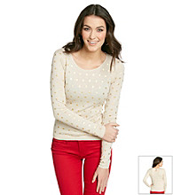 Kensie® Polka Dot Sweater