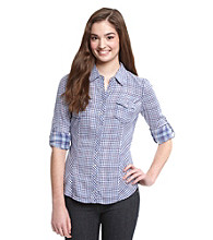 Guess Carolina Plaid Top