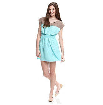 Sequin Hearts® Juniors' Colorblock Dress