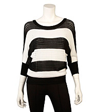 A. Byer Juniors' Open Stitch Stripe Sweater