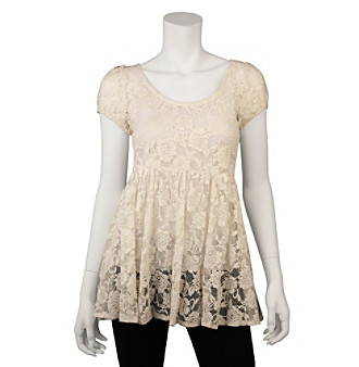 A. Byer Juniors' Lace Babydoll Top
