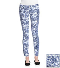 Wallflower Vintage® Juniors' Cloudy Dot Print Skinny Jeans