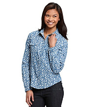 w.f. Juniors' Floral Equipment Shirt